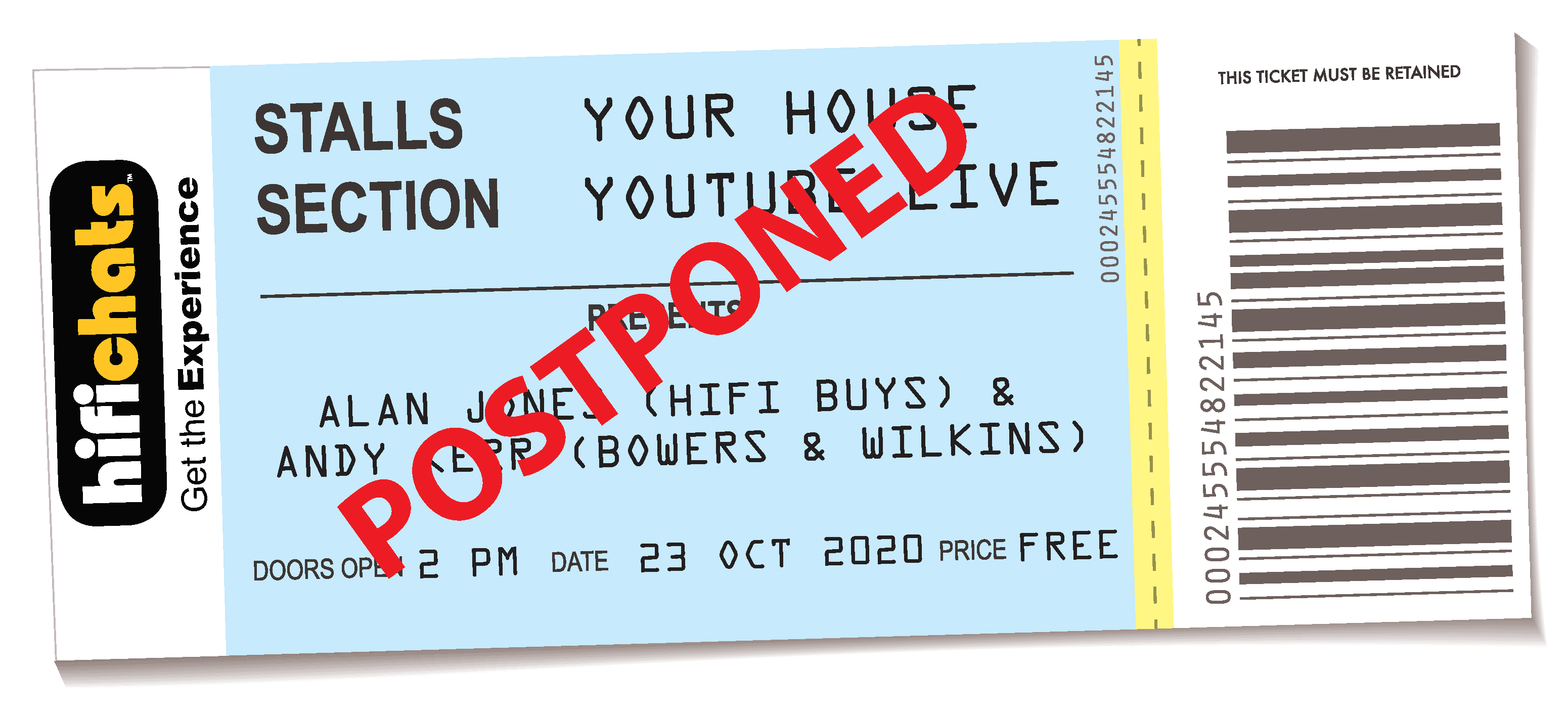 HFC Ticket B&W postponed cropped